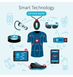 Smart Technology Line Poster vector