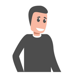 smiling man icon cartoon style vector image