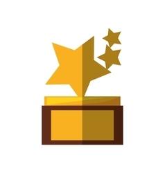 Stars trophy awards shadow vector