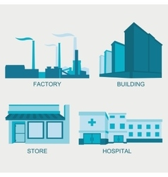Stock city modern architecture vector image