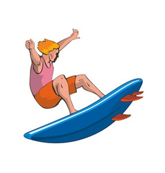 Surfer Retro vector image