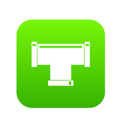 T pipe connection icon digital green vector