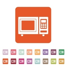 The microwave oven icon Kitchen symbol Flat vector image
