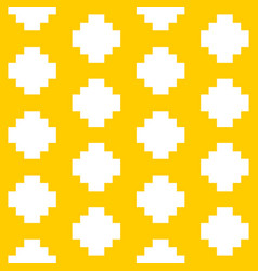 Tile pastel yellow and white pattern vector