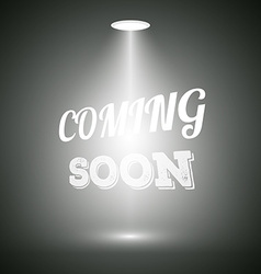 Vintage Style Coming Soon Dark Announscement vector