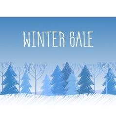 Winter sale words on the beautiful Chrismas flat vector