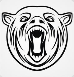 Angry bear tribal vector