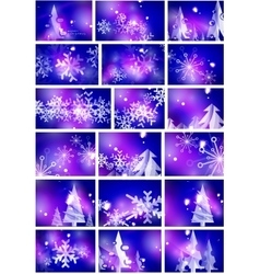 Blue shiny Christmas abstract backgrounds vector image