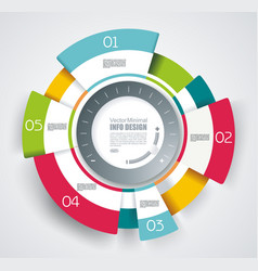 circle segments infographic design use for vector image vector image