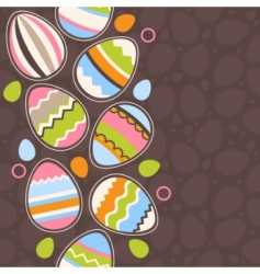 greeting card wiry Easter eggs vector image vector image