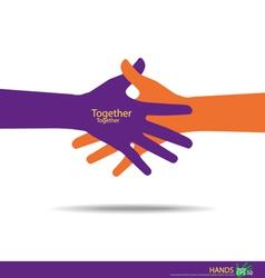 Handshake Teamwork Hands Logo vector image