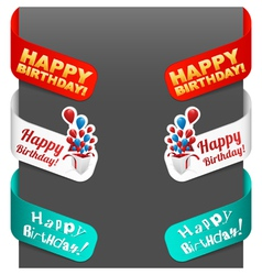 left and right side signs - happy birthday vector image vector image