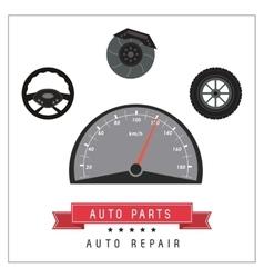 Mileage icon Auto part design graphic vector image