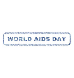 World aids day textile stamp vector
