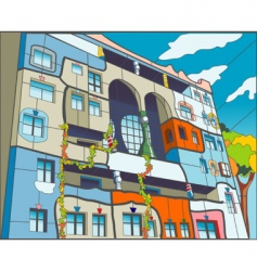 abstract building vector image vector image