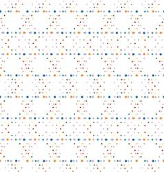 Abstract geometric polka dot seamless pattern vector image