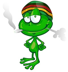 jamaican frog cartoon vector image