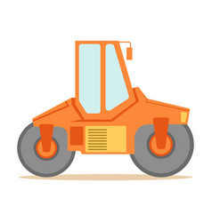 small orange paver machine part of roadworks and vector image vector image