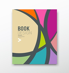 Cover Magazine Abstract colorful curve design vector image