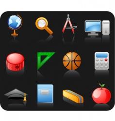 education black icon set vector image