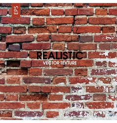 red brick wall aged texture vector image
