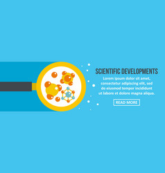 scientific developments banner horizontal concept vector image