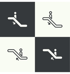 Set of icons escalator vector image vector image