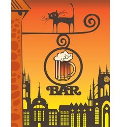 beer bar vector image vector image