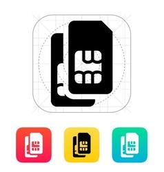 Dual SIM cards icon vector image
