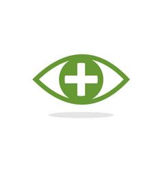 eye pllus logo vector image