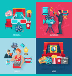 Movie Making Icons Set vector image