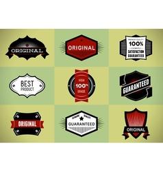 Set of Original and Premium labels vector image