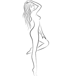 sketch of nacked woman vector image vector image
