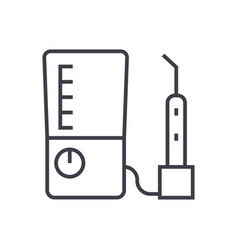 tooth drilling machine line icon sign vector image