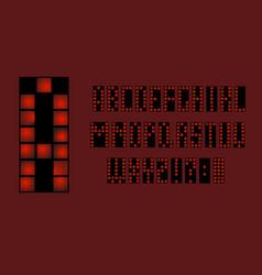 80 s retro alphabet font apocalypse type letters vector image