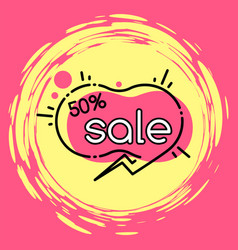 advertising sale and discount promotion vector image