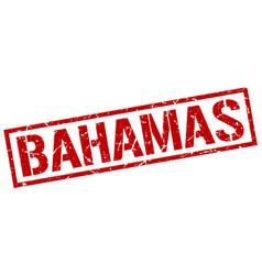 Bahamas red square stamp vector