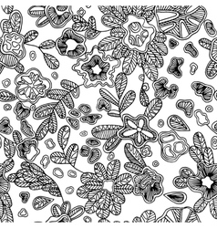 Black and white seamless abstract pattern with vector image