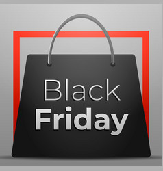 black friday concept background cartoon style vector image