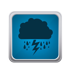 blue emblem cloud rainning and ray icon vector image
