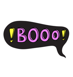 booo cool teenager word bubble black vector image