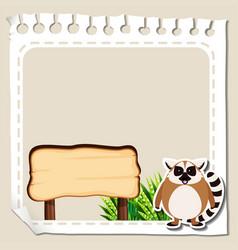 Border template with lemur vector