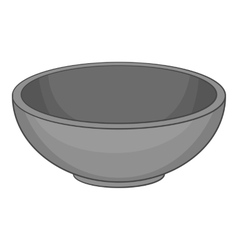 Bowl icon cartoon style vector