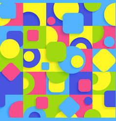 bright abstract geometric pattern in seamless vector image