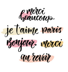 Calligraphic phrase in french inspirational vector
