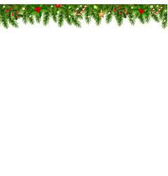 christmas garland transparent white background vector image