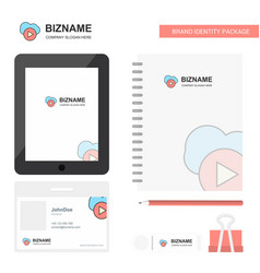 cloud play business logo tab app diary pvc vector image