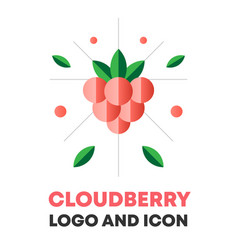 cloudberry icon logo berry vector image