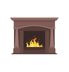 collection of home different fireplaces to paste vector image