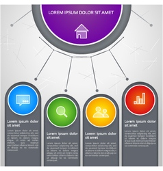 colorful info graphic vector image